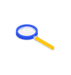 magnifying glass isolated isometric icon vector image vector image