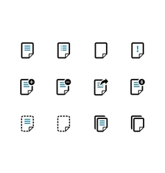 Notepad Document file and Note duotone icons vector image