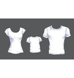 tshirts white vector image vector image