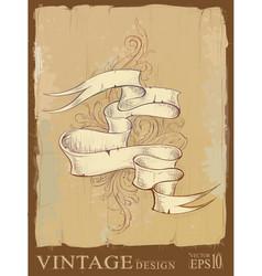 vintage design vector image vector image