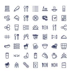 49 menu icons vector