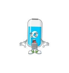 A cartoon design wall hand sanitizer showing vector