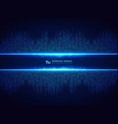 abstract blue technology of square connection vector image
