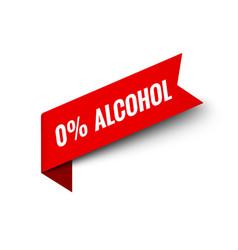 Alcohol free icon symbol 0 percent logo vector