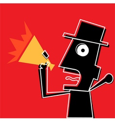 Angry Man With Megaphone vector