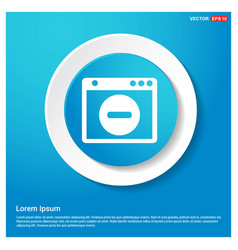 Application window interface icon abstract blue vector
