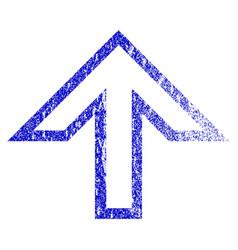 Arrow up grunge textured icon vector