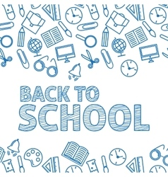 Back to school A white background vector