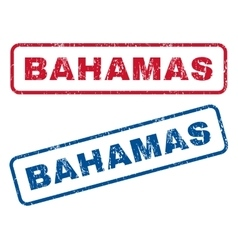 Bahamas Rubber Stamps vector