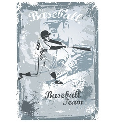 Base ball grunge vector
