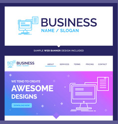 Beautiful business concept brand name resume vector