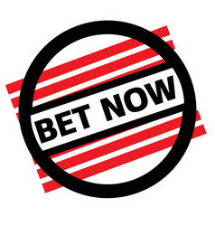 Bet now stamp on white vector