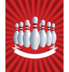 bowling skittles vector image