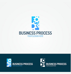 business process logo set consisting of three gear vector image