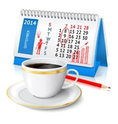 Business sketch on calendar vector image