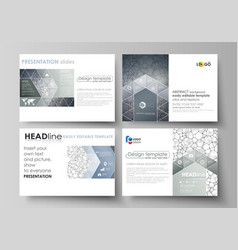 Business templates for presentation slides vector