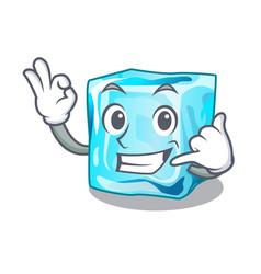 Call me ice cubes on the cartoon funny vector
