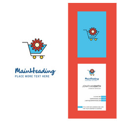 cart setting creative logo and business card vector image