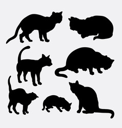 Cat pet animal silhouette vector