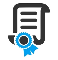 Certified Scroll Document Icon vector image
