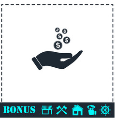charity icon flat vector image