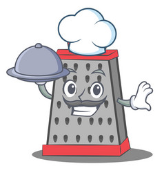 Chef kitchen grater character cartoon vector