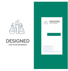 Chemical dope lab science grey logo design and vector