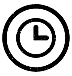 Clock Icon Rubber Stamp vector image