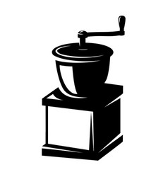 coffee mill icon isolated on white design element vector image