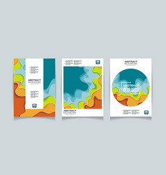 Color design templates for a4 covers banners vector
