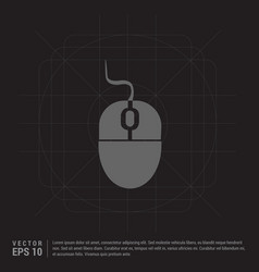 Computer mouse icon vector