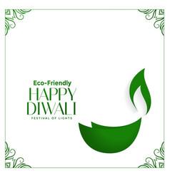 Creative eco friendly green diwali concept with vector
