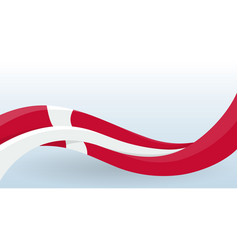 denmark waving national flag scandinavian cross vector image