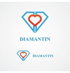 Design diamond logo element vector