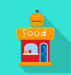 Design kiosk and burger sign collection vector