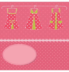 Dress background vector