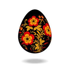 Easter egg pattern khokhloma vector