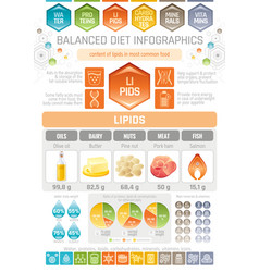fat lipids diet infographic diagram poster water vector image
