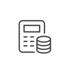 financial calculation line icon vector image