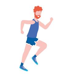 fitness sport train cartoon vector image