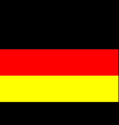 flag germany in flat design flag germany vector image