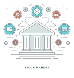 Flat line Business Stock Market Deals Concept vector