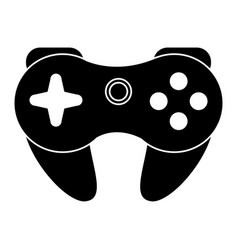 Gamepad control console pictogram vector