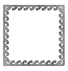 greek frame with wave vector image