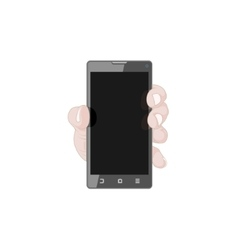 Hand with Smart Phone vector image vector image