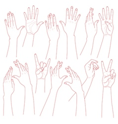 Hands set vector