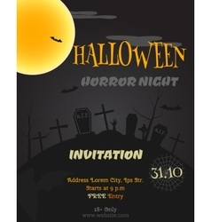 Happy Halloween party poster flyer banner vector image