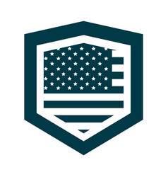 happy independence day american flag shield vector image