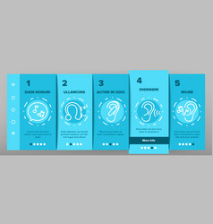 Hear sound aid tool onboarding icons set vector