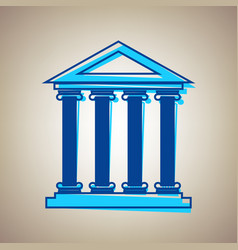 Historical building sky blue vector